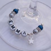 Mini Star Personalised Wine Glass Charm - Elegance Style